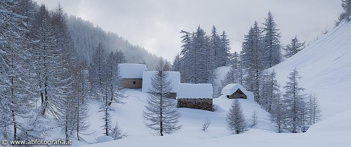 Panoramica invernale, Alpe Devero (Italia) - Panoramica