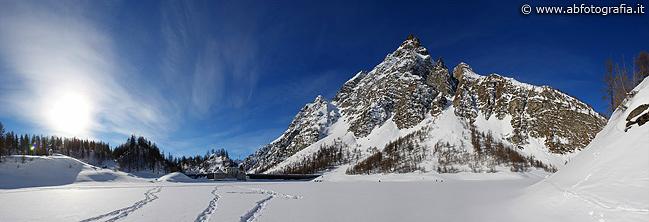 Lago Devero ghiacciato - Panoramica
